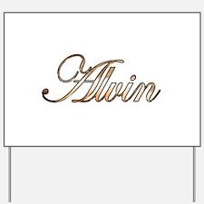 Gold Alvin Yard Sign