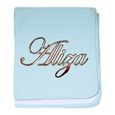 Gold Aliza baby blanket