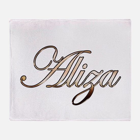 Gold Aliza Throw Blanket