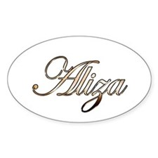 Gold Aliza Decal