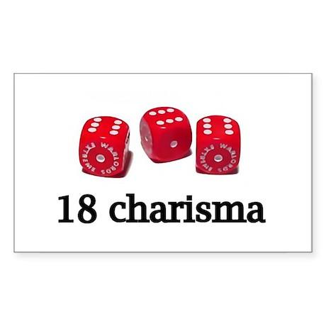 18 Charisma Rectangle Sticker