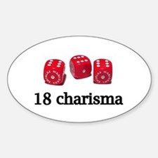 18 Charisma Oval Decal
