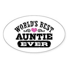 World's Best Auntie Ever Decal