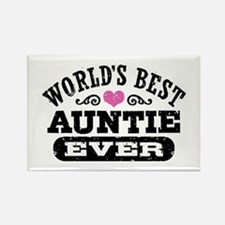 World's Best Auntie Ever Rectangle Magnet