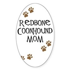 Redbone Coonhound Mom Oval Decal