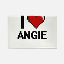 I Love Angie Magnets