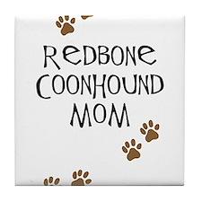 Redbone Coonhound Mom Tile Coaster