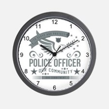 Community Police Officer Wall Clock