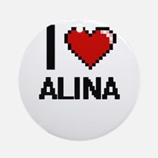 I Love Alina Ornament (Round)