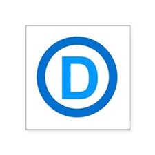 "Cute Democrat Square Sticker 3"" x 3"""