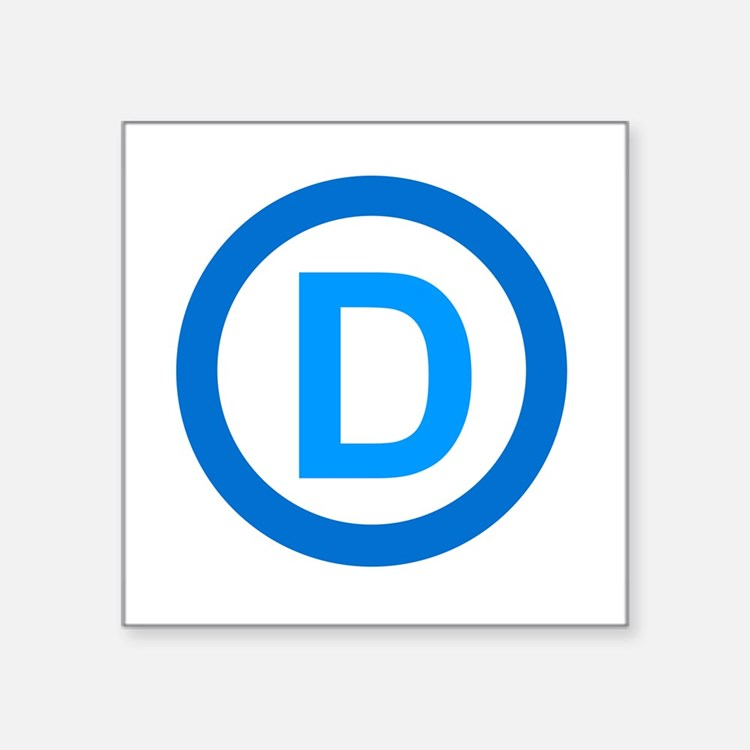 "Cute Democrats Square Sticker 3"" x 3"""