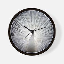 Beautiful white peacock elegant art dec Wall Clock