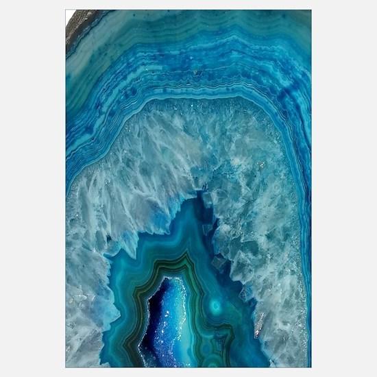 Blue geode quartz crystal druse druzy agate marble