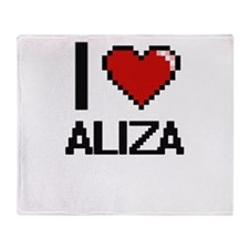 I Love Aliza Throw Blanket
