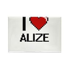 I Love Alize Magnets