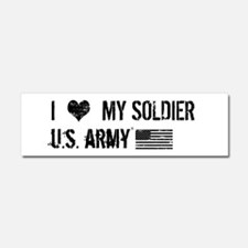 U.S. Army: I Love My Soldier Car Magnet 10 x 3