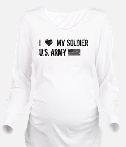 U.S. Army: I Love My Long Sleeve Maternity T-Shirt