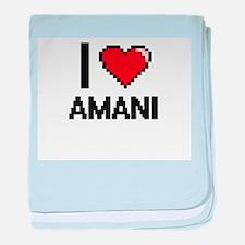 I Love Amani baby blanket