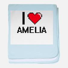 I Love Amelia baby blanket