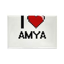I Love Amya Magnets