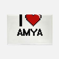 I Love Amya Magnets