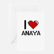 I Love Anaya Greeting Cards
