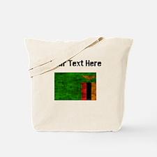 Distressed Zambia Flag (Custom) Tote Bag