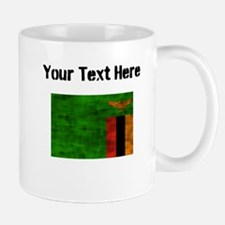 Distressed Zambia Flag (Custom) Mugs