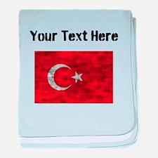 Distressed Turkey Flag (Custom) baby blanket