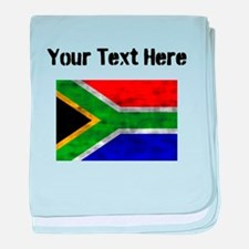 Distressed South Africa Flag (Custom) baby blanket