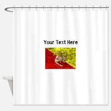 Distressed Sicily Flag (Custom) Shower Curtain