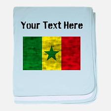 Distressed Senegal Flag (Custom) baby blanket