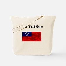 Distressed Samoa Flag (Custom) Tote Bag