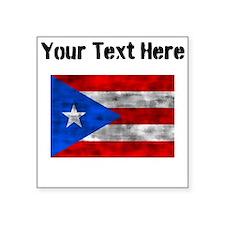 Distressed Puerto Rico Flag (Custom) Sticker
