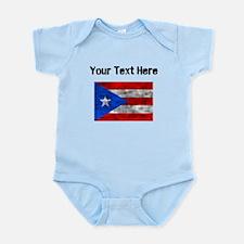 Distressed Puerto Rico Flag (Custom) Body Suit