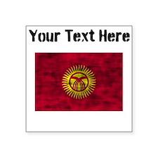 Distressed Kyrgyzstan Flag (Custom) Sticker