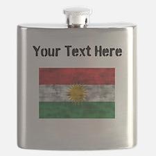 Distressed Kurdistan Flag (Custom) Flask