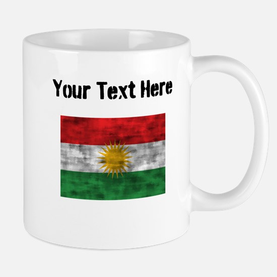 Distressed Kurdistan Flag (Custom) Mugs