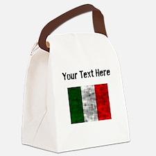 Distressed Italy Flag (Custom) Canvas Lunch Bag