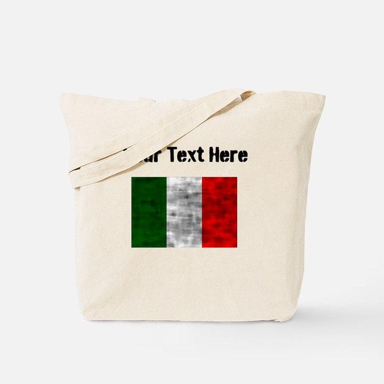Distressed Italy Flag (Custom) Tote Bag