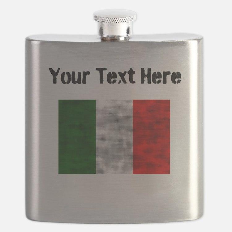 Distressed Italy Flag (Custom) Flask