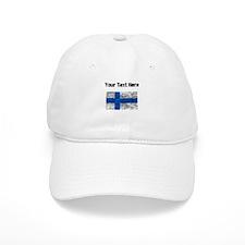 Distressed Finland Flag (Custom) Baseball Baseball Cap