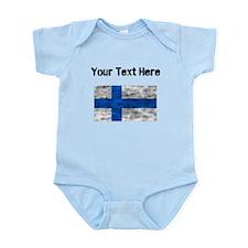 Distressed Finland Flag (Custom) Body Suit