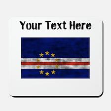 Distressed Cape Verde Flag (Custom) Mousepad