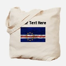 Distressed Cape Verde Flag (Custom) Tote Bag