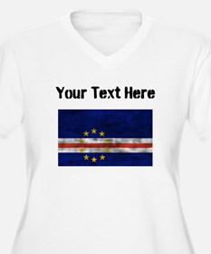 Distressed Cape Verde Flag (Custom) Plus Size T-Sh