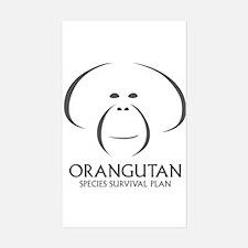Orangutan Ssp Logo Sticker (dark Gray Logo)