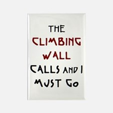 climbing wall calls Rectangle Magnet