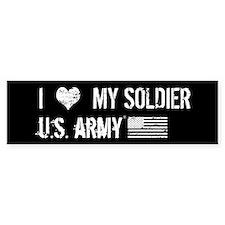 I Love My Soldier Bumper Bumper Sticker