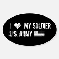 U.S. Army: I Love My Soldier Sticker (Oval)